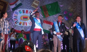The winners of Mister Faculty of Foreign Students competition 2013