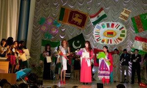 The winners of Miss Faculty of Foreign Students competition 2013